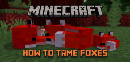 minecraft how to tame foxes spawn breed
